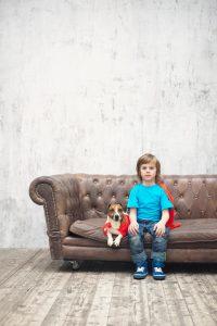 Jack russel et les enfants
